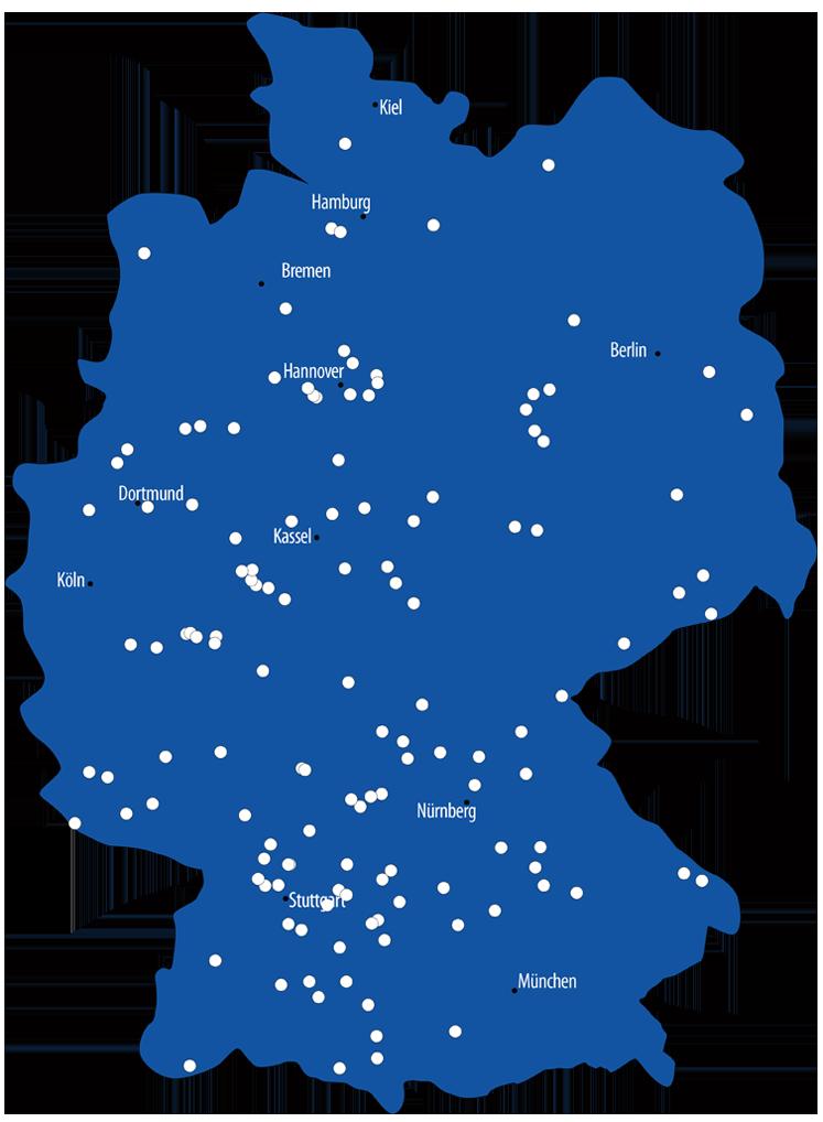 bauSpezi-Standorte