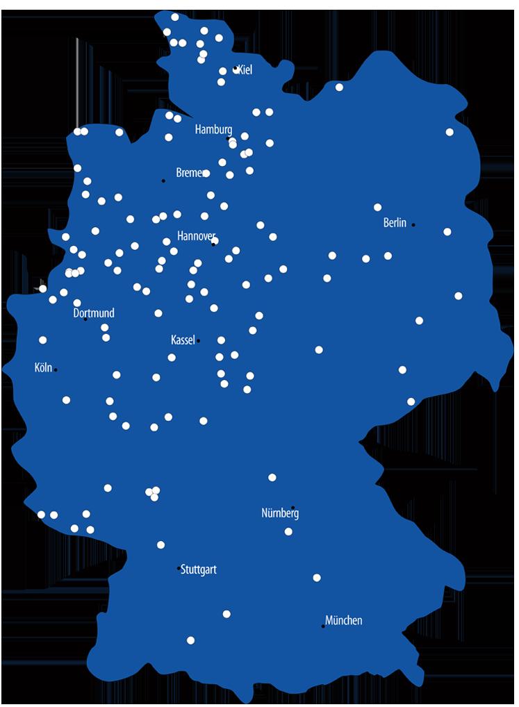 Kiebitzmarkt-Standorte