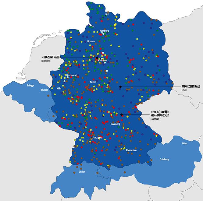 NBB-Gruppe Standorte in der Übersicht